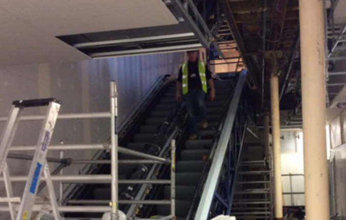M&S Cambridge Escalator Installation
